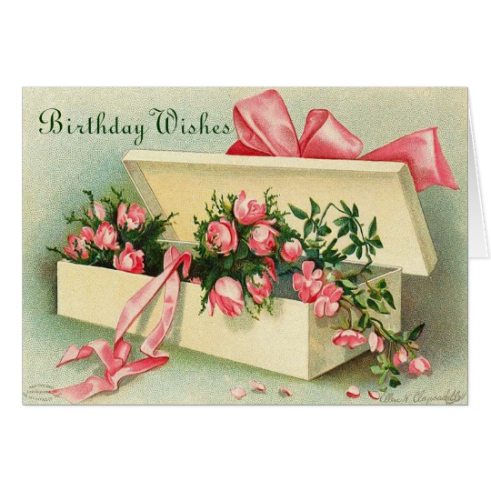 Image Vintage Happy Birthday Card
