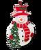 C277 Christmas candles i02 Snowman