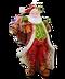 C277 Christmas candles i06 Santa Claus