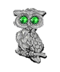 C418 Precious brooches i01 Owl brooch