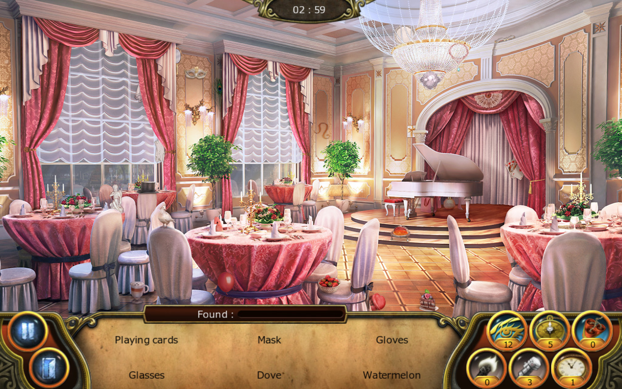 Banquet Hall in Text mode Social Events
