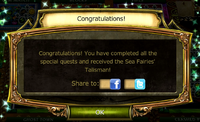 Call from the Depths Quest Complete Notification