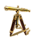 C572 Mysterious abode i01 Brass telescope