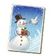 C464 Christmas cards i03 Snowman card
