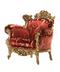 C409 Elegant furniture i03 Velvet armchair