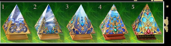 Pyramids levels 1-5