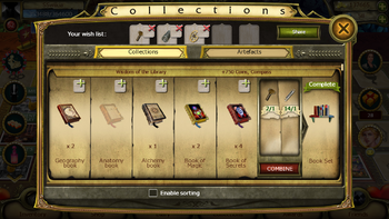Collections tab small