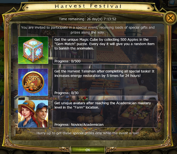 Harvest Festival Update Timed Challenges