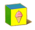 C570 Toy blocks i03 Ice cream block