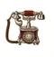 C366 Elegant telephone i06 Old telephone
