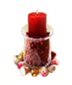 C465 Holiday adornments i03 Candles with cranberries