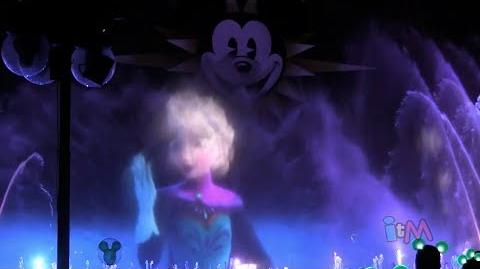 """FULL """"Frozen"""" World of Color segment with """"Let It Go"""" by Idina Menzel at Disneyland Resort"""