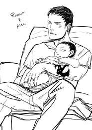 CJ Robert & baby Alec