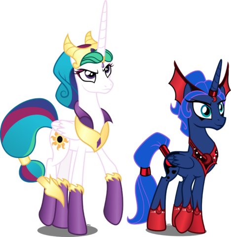 File:Celestia s and luna s evil counterparts by xebck-d8isf29.png