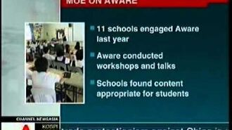 MOE queries Thio Su Mien on allegations about AWARE's sexuality education programme (28 April 2009)