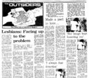 Singapore's first newspaper articles on the lesbian community