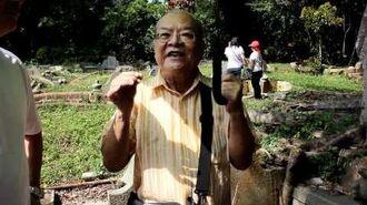 Mr GT Lye recites pantun & shares memories at Bukit Brown Cemetery (16 Oct 2011)