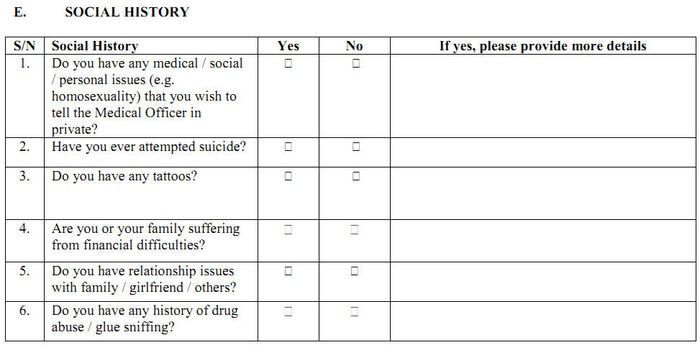 MedicalScreeningQuestionnaire