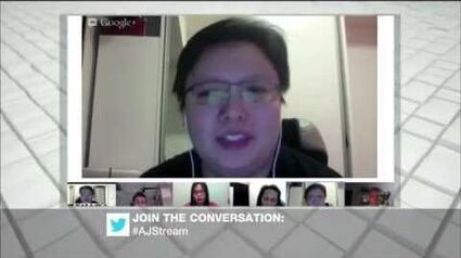 Jean Chong responds to Kirsten Han's query during Aljazeera programme on Asian LGBT equality