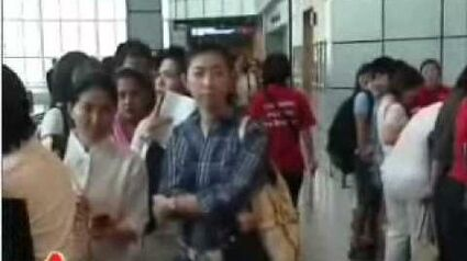 Massive queue for AWARE EGM at Suntec City (2 May 2009) 1