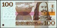 Netherlands 100 Gulden Banknote 1970