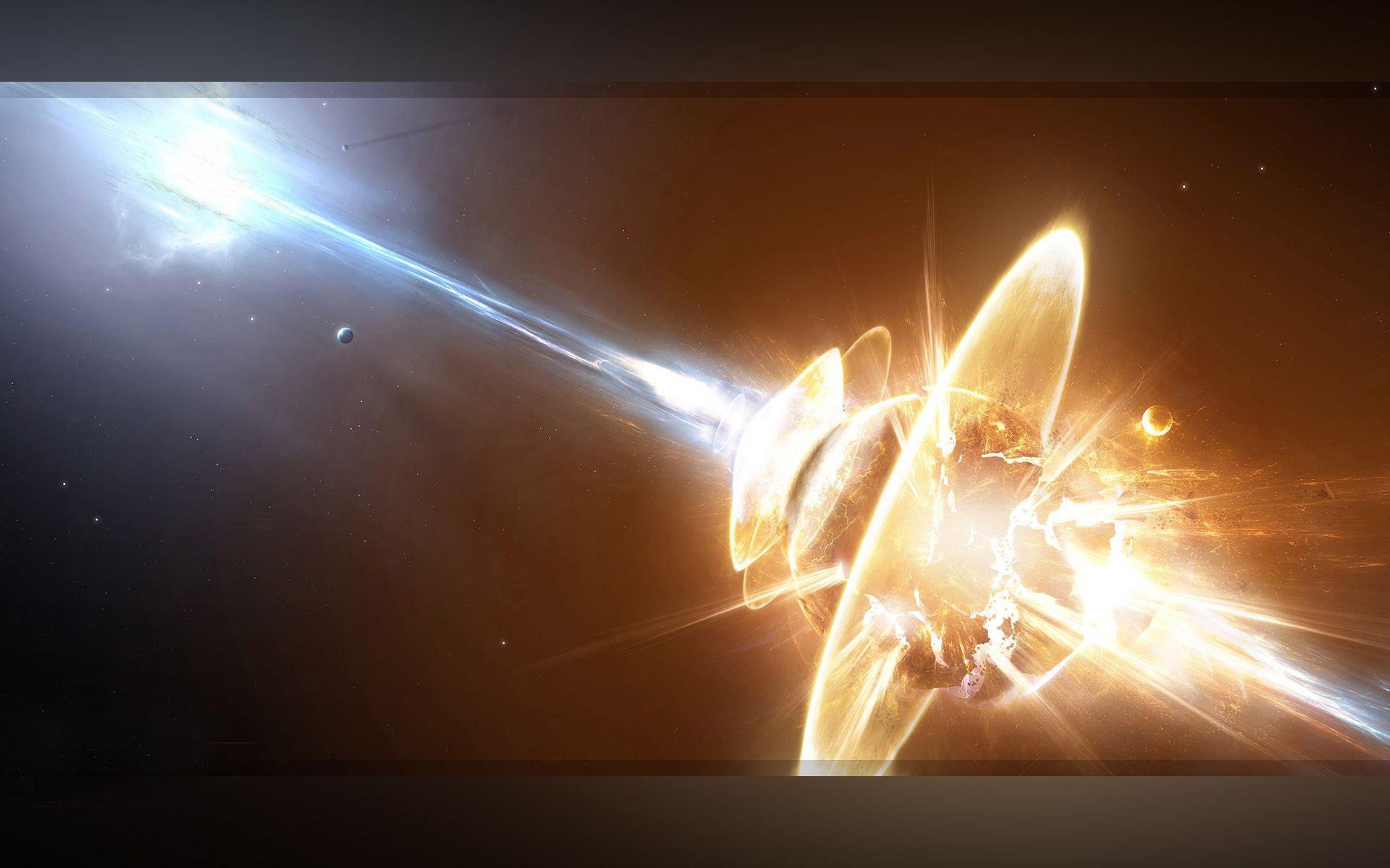 Planet Explosion Fantasy Hd Wallpaper X Jpg