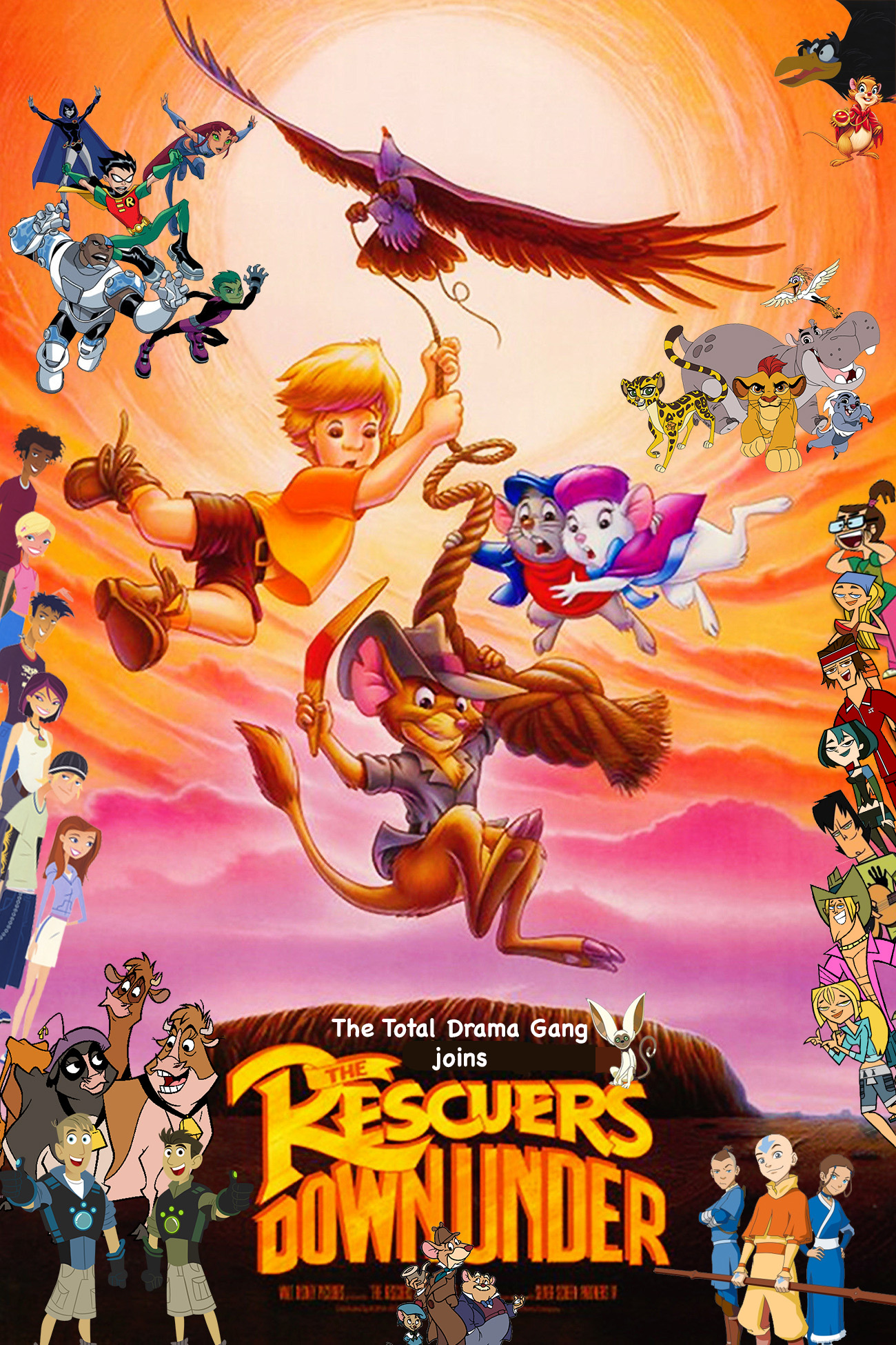 The Total Drama Gang Joins The Rescuers Down Under The