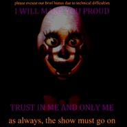 The show must go onbright