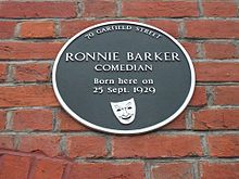 Ronnie Barker Plaque