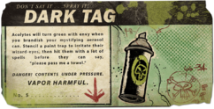 Dark tag card