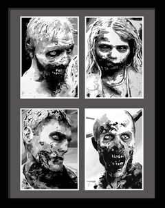 Portraits of walkers twd
