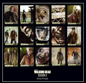 Walking dead season 3 artist proofs 1-15