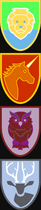 Tricolor Animal ShieldArt