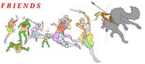 Friends Knights by Demonic Criminal