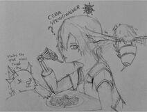 Ceria Springwalker. Half-Elf. by Chalyon