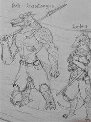 Relc and Embria by Chalyon