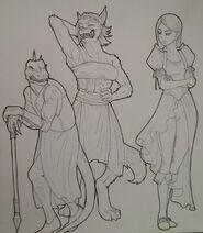 Tekshia, Krshia, Wuvren by DemonicCriminal