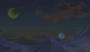 Moons over high passes by asanee04