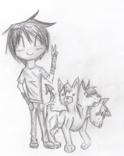 Chibi Orpheus and Cerberus