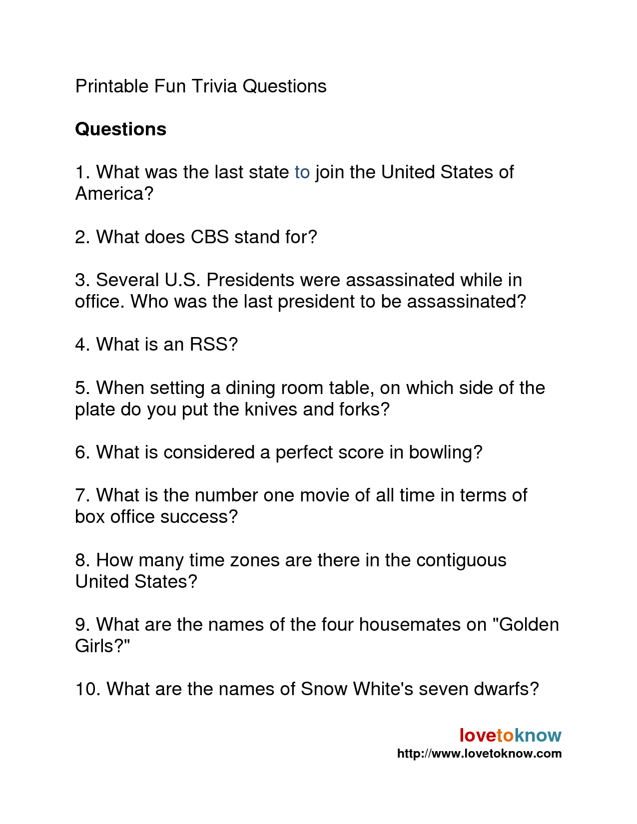 photo about Printable Trivia Questions and Answers named Todays I.Q. Concern: All round Practical experience Quizzes The