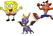 SpongebobSpyoAndCrash