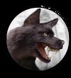 Hud avatar black wolf