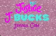 New Justice J-Bucks card design 1