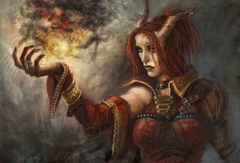 Teifling Sorceress