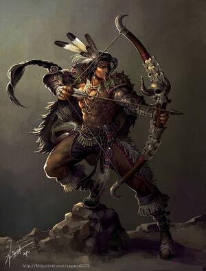 Native american archer by goddessmechanic-d5k8yxu