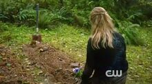 Clarke visit's Well's grave