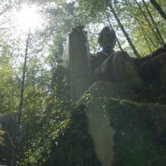 Das Monument in Unruhe im berg