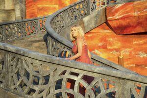 603 - Clarke in a dress