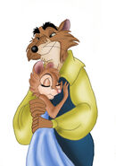 Justin and Mrs Brisby colored by Ferrychick1