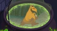 S1e19b Cauldron Displaying the Leaf Monster